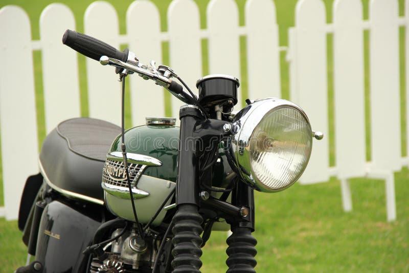 Классический мотоцикл триумфа стоковая фотография rf