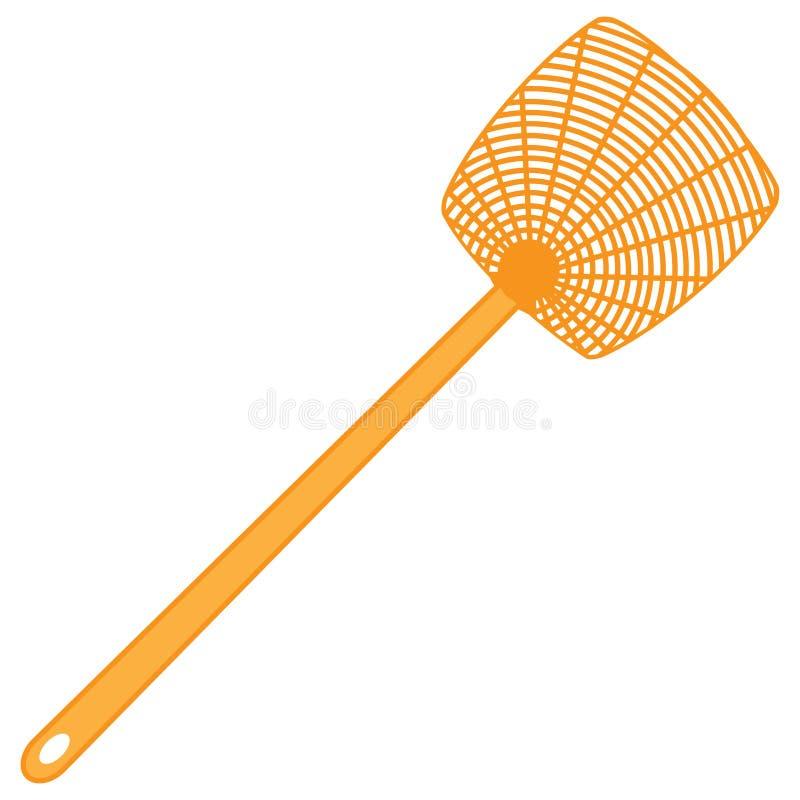 Классический пластичный swatter мухы иллюстрация штока