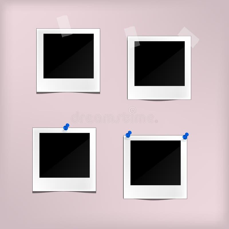 Классический ретро комплект стиля рамки фото шаблона вектора бесплатная иллюстрация