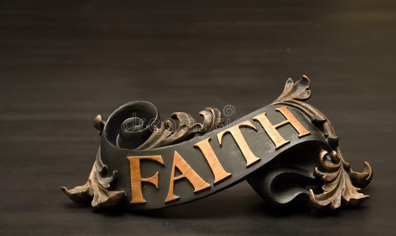 Классическое богато украшенное оформление переченя веры стоковые изображения rf