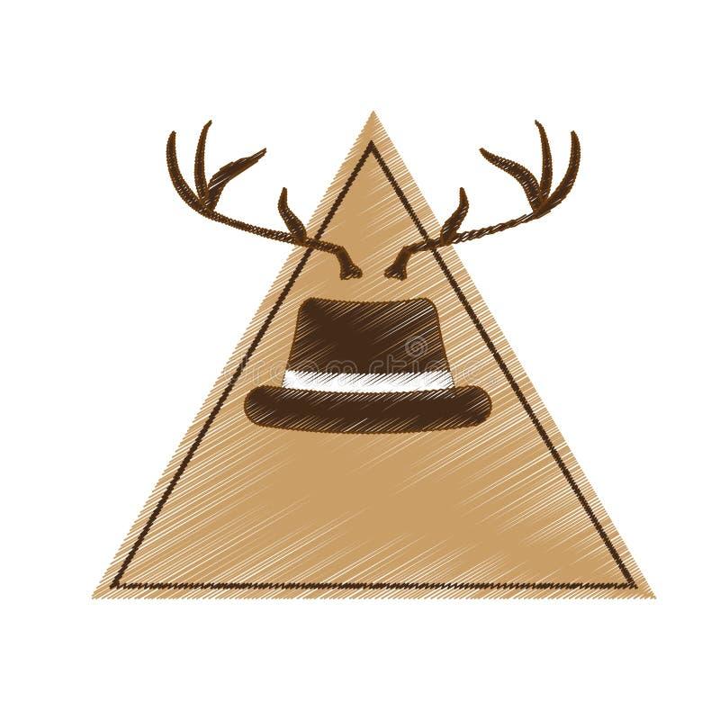 Download Классическое изображение значка шляпы Иллюстрация вектора - иллюстрации насчитывающей отрезок, costume: 81800277