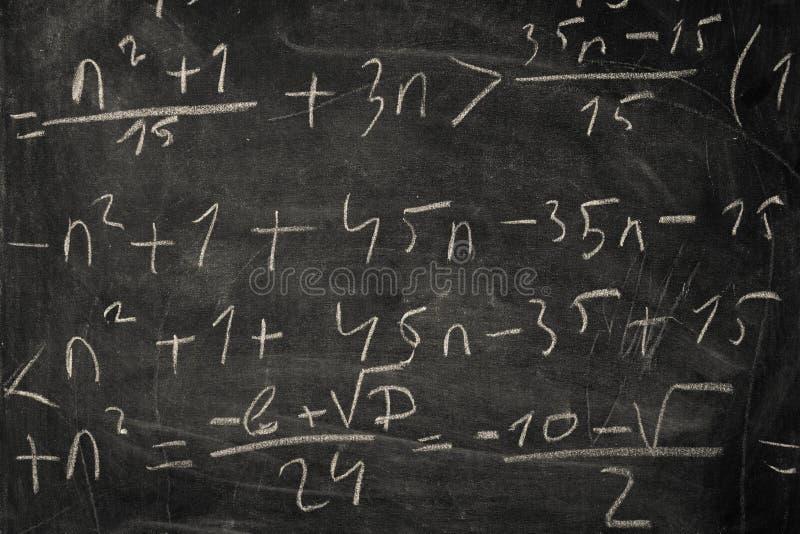 Классн классный с математически уровнениями стоковая фотография