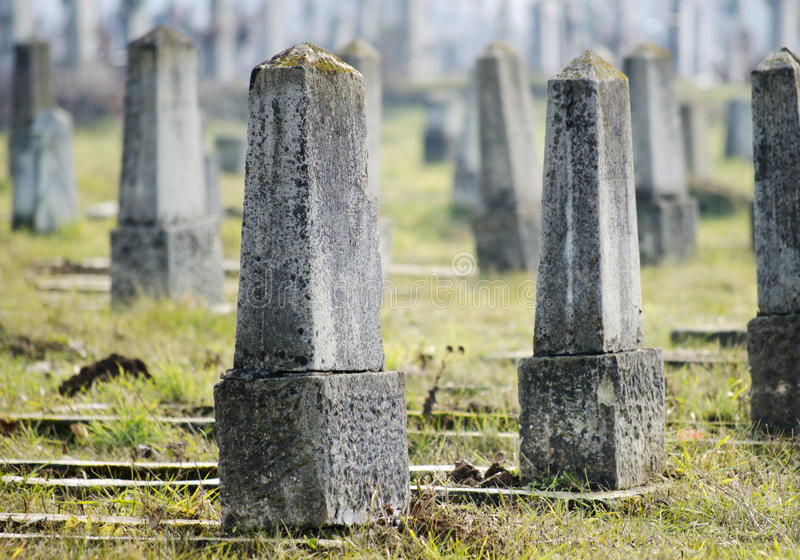 Кладбище войны в Румынии стоковая фотография rf