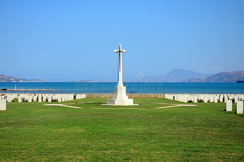 Кладбище войны залива Souda объединенное, Крит стоковые изображения