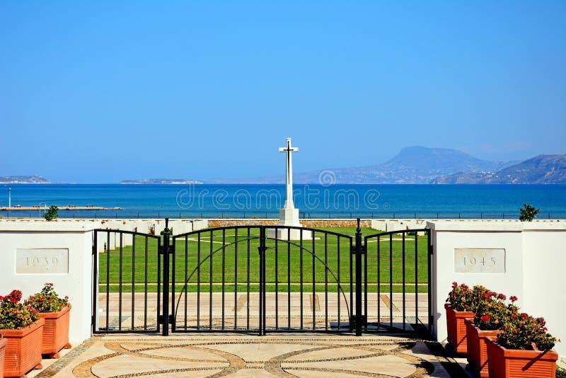 Кладбище войны залива Souda объединенное, Крит стоковое изображение