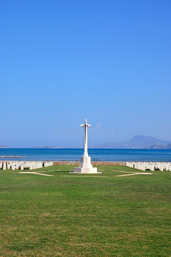 Кладбище войны залива Souda объединенное, Крит стоковое фото