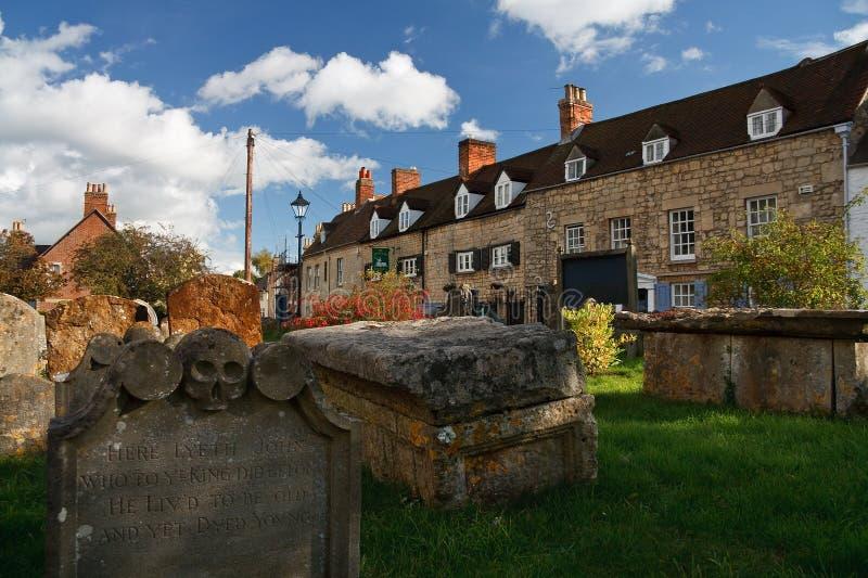 Кладбище в Оксфорде, Великобритании стоковое изображение
