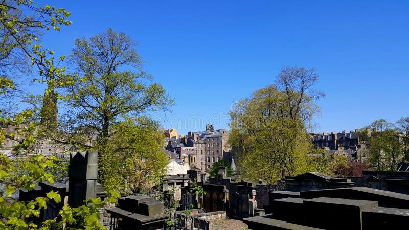Кладбище в Эдинбурге стоковые изображения