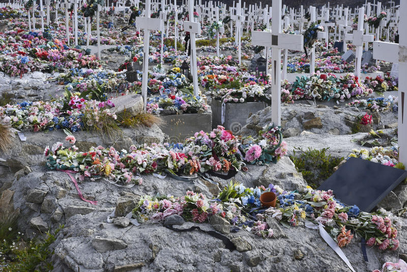 Кладбище, Гренландия стоковая фотография rf