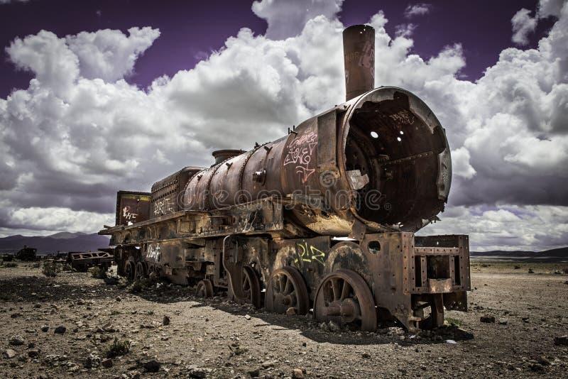 Кладбище поезда стоковая фотография