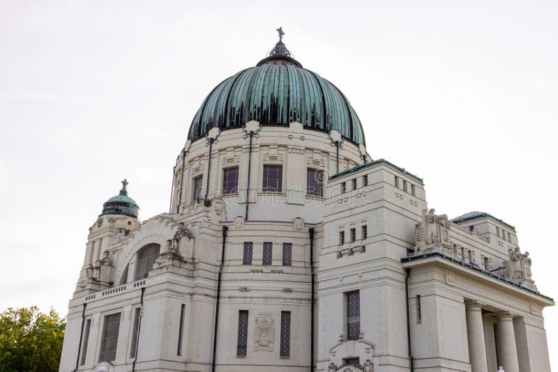 Кладбище централи вены Luegerkirche стоковое изображение rf