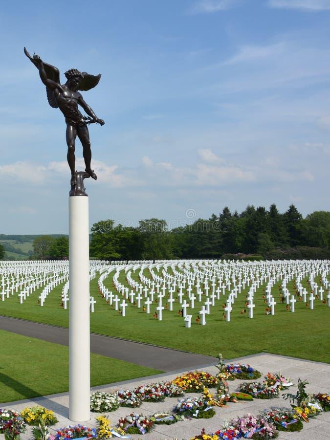 Кладбище henri-Chapelle Бельгия Дня памяти погибших в войнах воинское стоковая фотография
