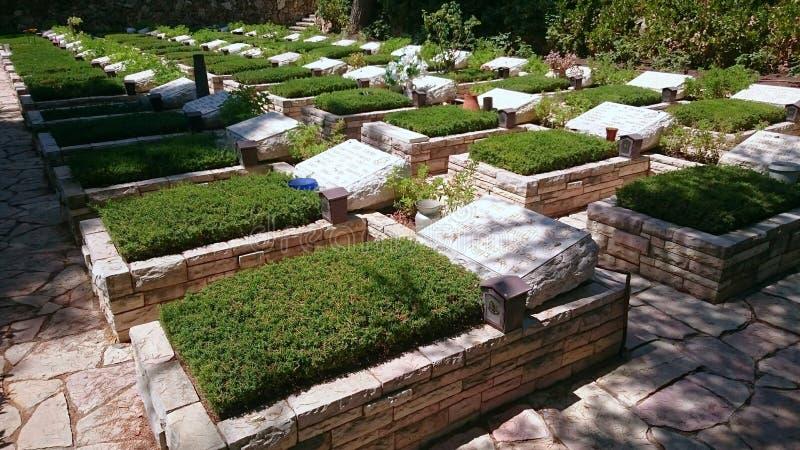 Кладбище Mount Herzl воинское - Иерусалим стоковое изображение rf