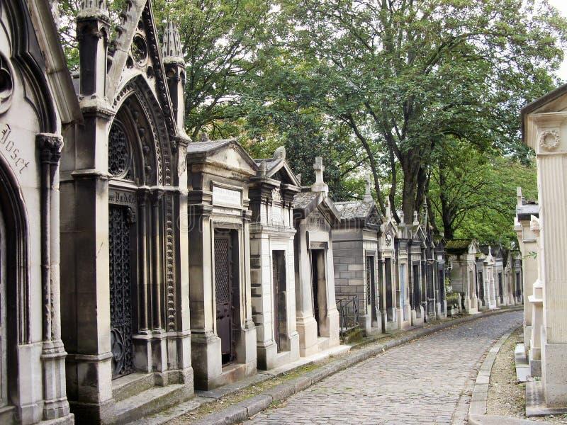 Кладбище Pere Lachaise в Париже стоковое фото