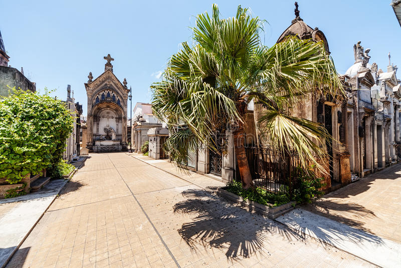 Кладбище Recoleta Ла стоковое фото