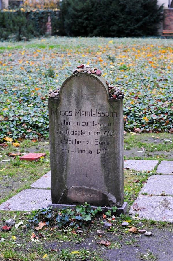 Кладбище Strasse гамбургера Grosse еврейское стоковое изображение