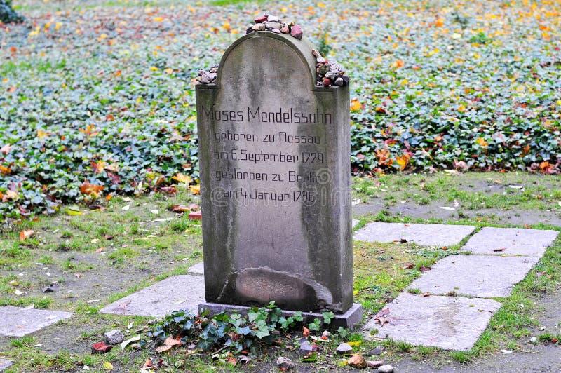 Кладбище Strasse гамбургера Grosse еврейское стоковые фотографии rf