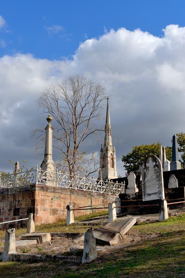 Кладбище Toowong стоковые изображения