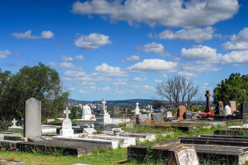 Кладбище Toowong стоковое изображение rf