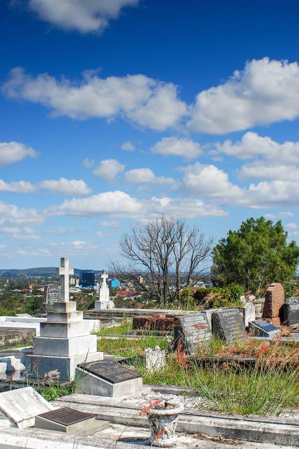 Кладбище Toowong стоковые изображения rf