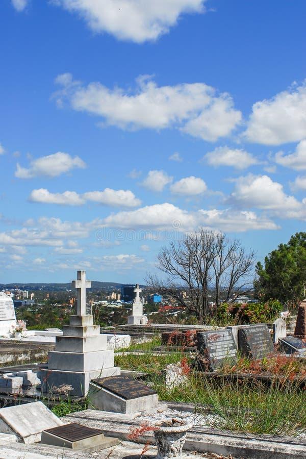 Кладбище Toowong стоковая фотография rf
