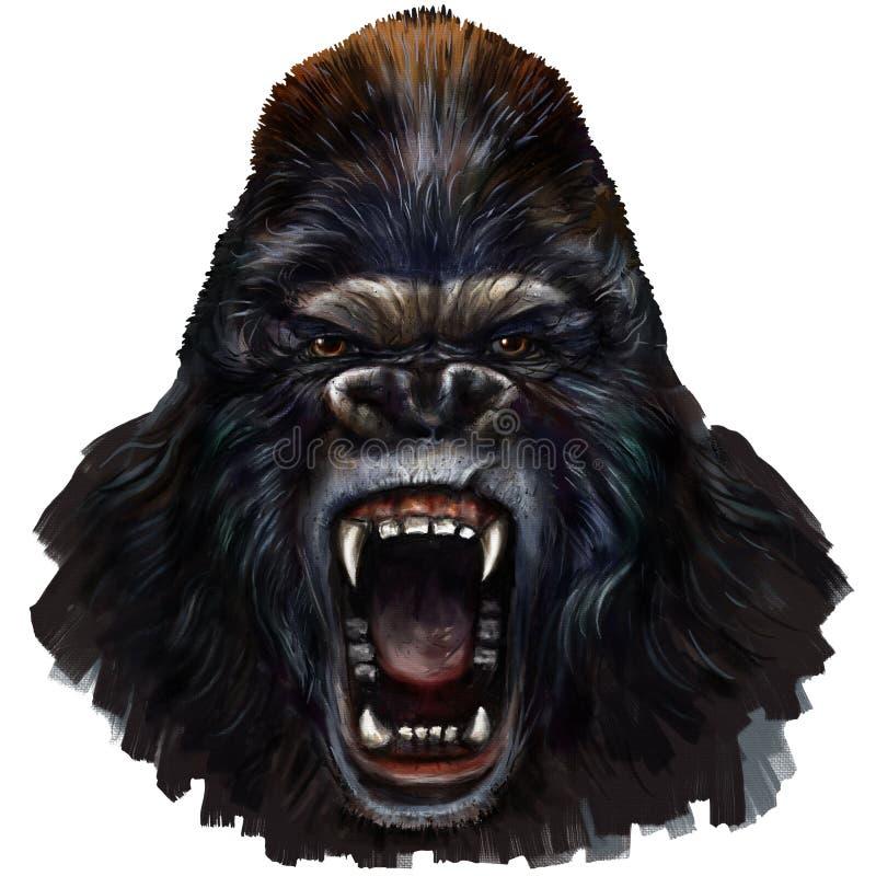 Клекот гориллы иллюстрация штока