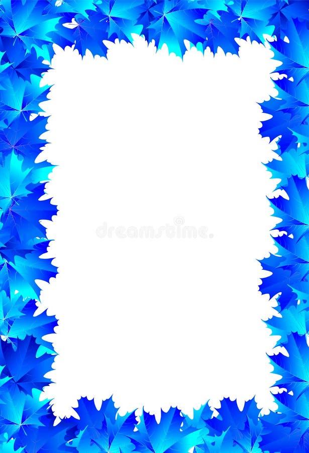 Кленовые листы сини рамки бесплатная иллюстрация