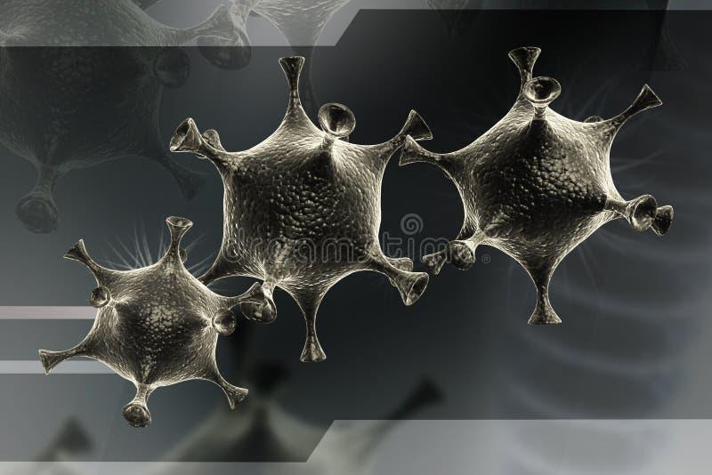 Клетка вируса иллюстрация вектора