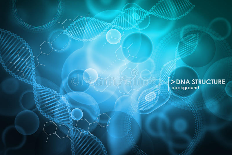 Клетка и предпосылка дна Молекулярное исследование бесплатная иллюстрация