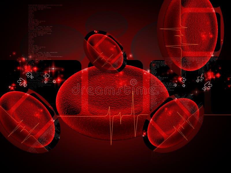 Клетка крови иллюстрация вектора