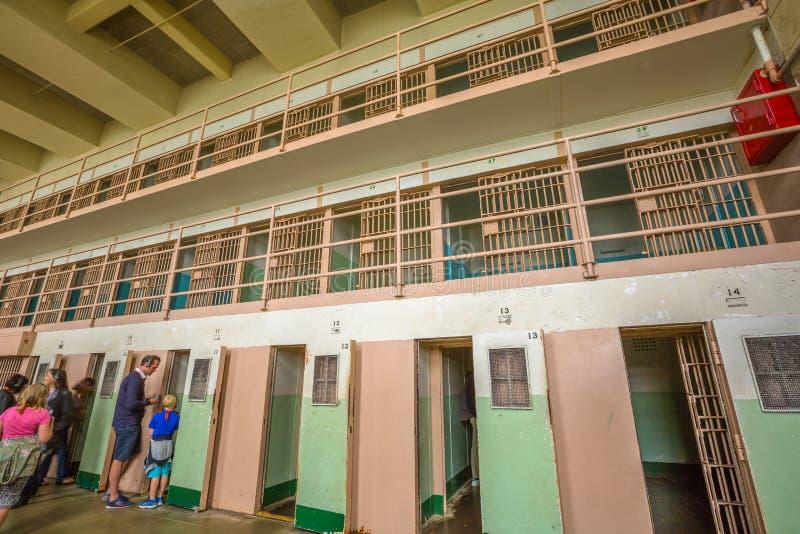 Клетки Alcatraz изоляции стоковые фотографии rf