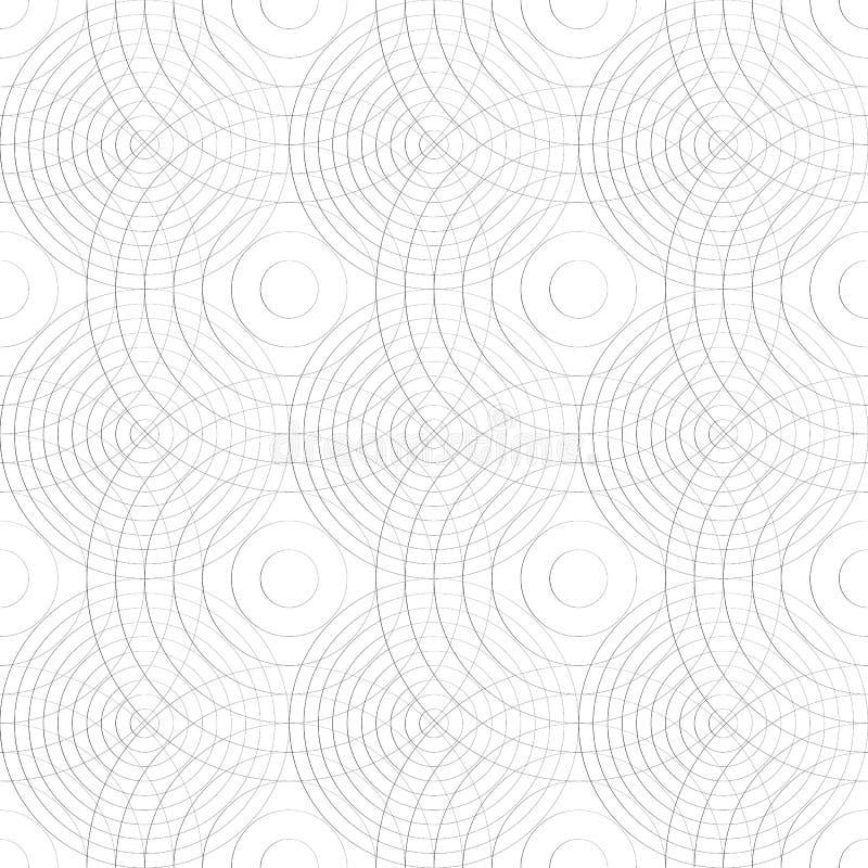 Download Клетчатая картина с тонкими линиями кругов Repeatable тонкое Иллюстрация вектора - иллюстрации насчитывающей график, решетка: 81803190