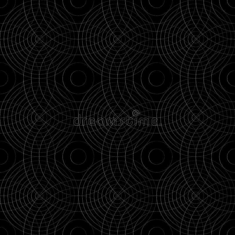 Download Клетчатая картина с тонкими линиями кругов Repeatable тонкое Иллюстрация вектора - иллюстрации насчитывающей бесцветно, сетка: 81803195