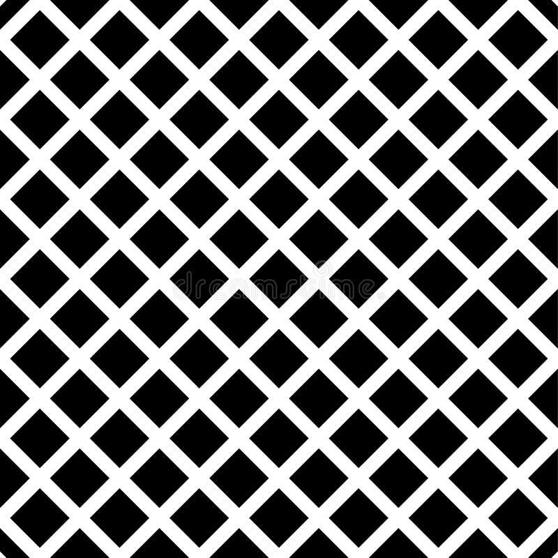 Download Клетчатый, картина решетки безшовная черно-белая Иллюстрация вектора - иллюстрации насчитывающей пересекать, бесцветно: 81802789