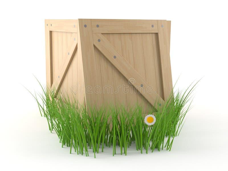 Клеть с травой бесплатная иллюстрация