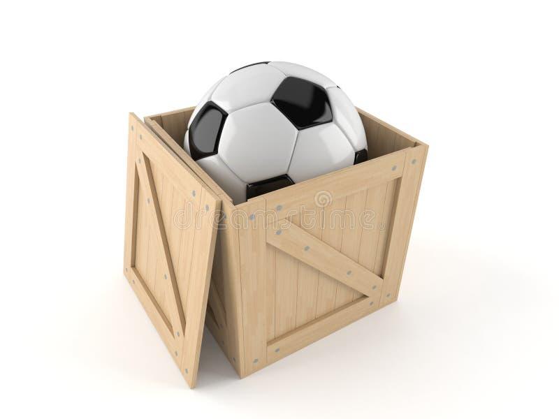 Клеть с футбольным мячом бесплатная иллюстрация