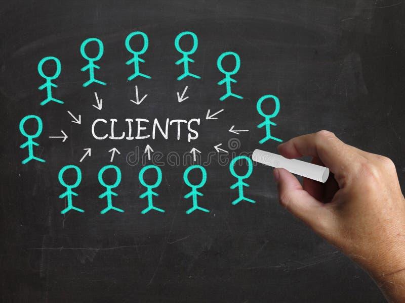 Клиенты на классн классном показывают потребителей и иллюстрация вектора