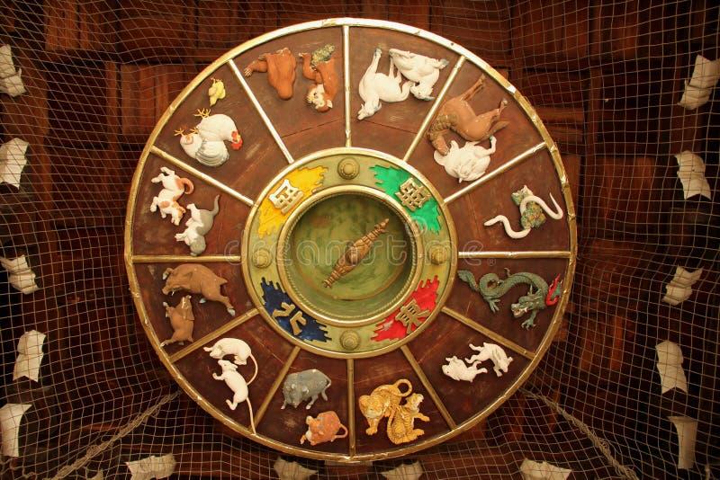 клиппирование содержит цифровой зодиак колеса путя иллюстрации градиентов стоковое изображение