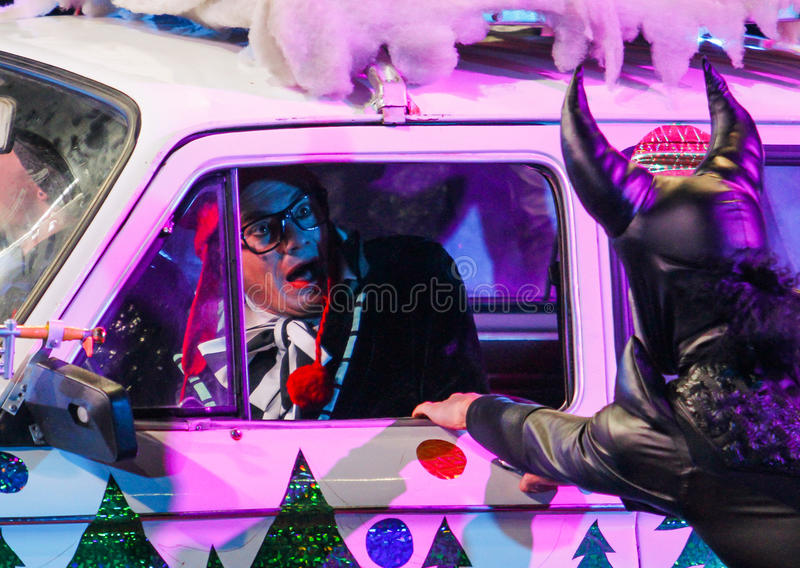 Клоуны развлекают стоковая фотография