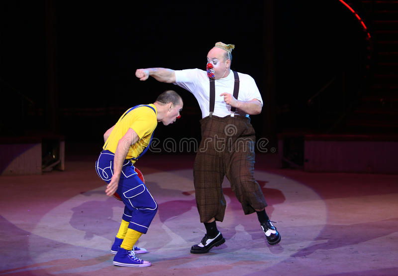 Клоуны цирка стоковые фотографии rf
