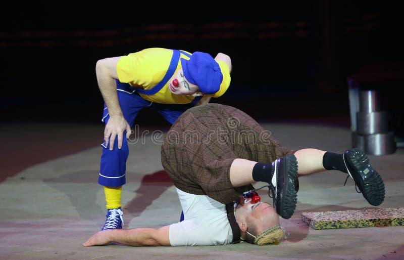 Клоуны цирка стоковая фотография rf
