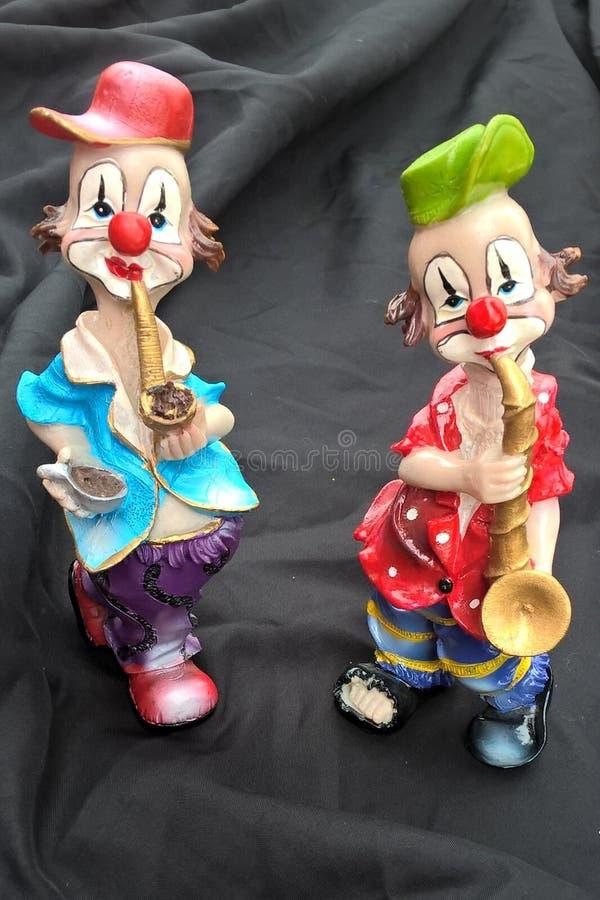 Клоуны Mardi Gra стоковая фотография rf
