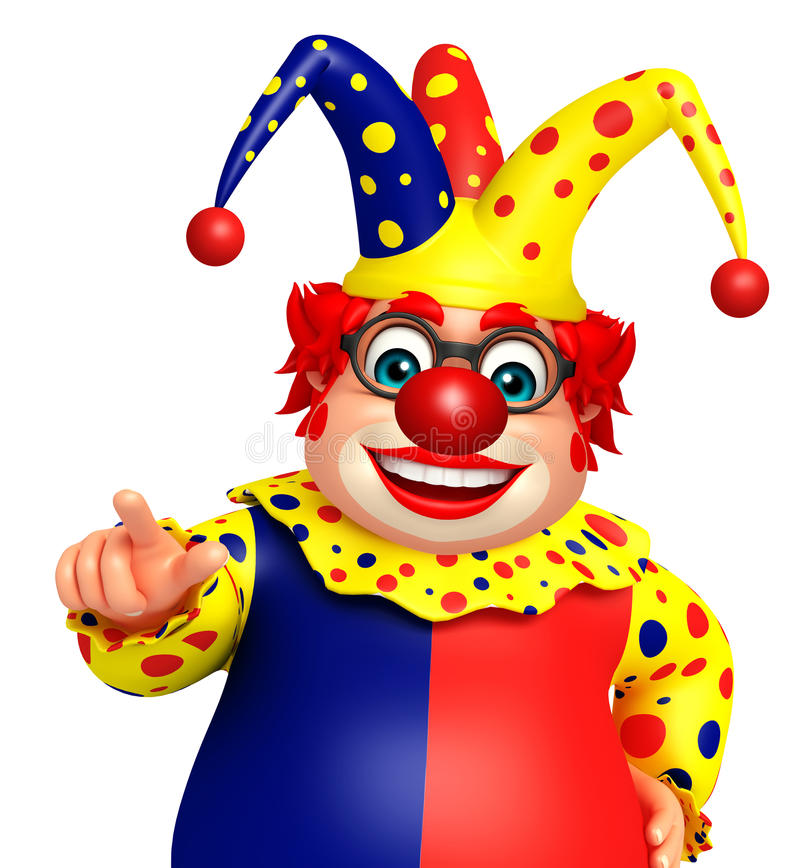 Клоун с указывать представление бесплатная иллюстрация