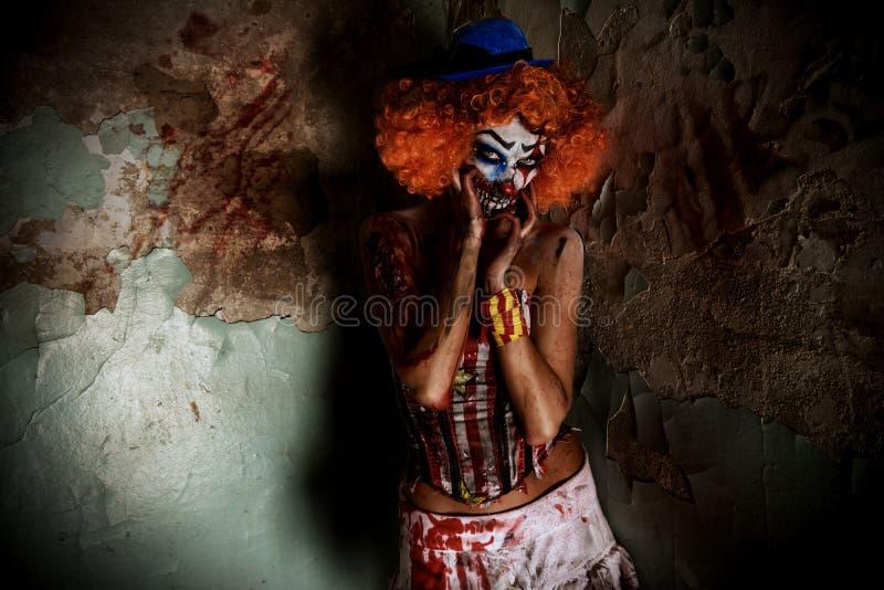 Клоун хеллоуина стоковая фотография