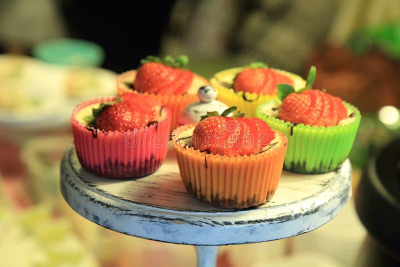 клубника десерта свежая стоковая фотография rf
