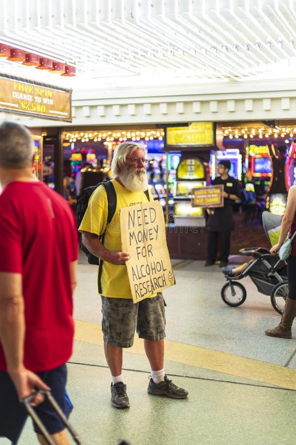 К центру города, Лас-Вегас стоковая фотография rf