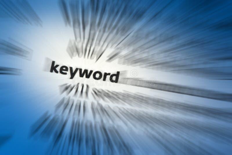 Ключевое слово стоковое изображение rf