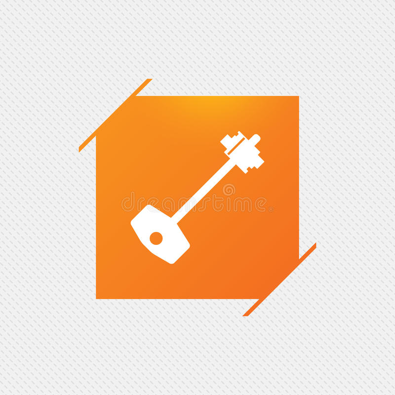 Ключевой значок знака Откройте символ инструмента бесплатная иллюстрация