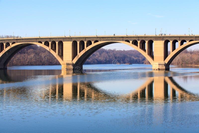 Ключевой DC Вашингтона моста стоковая фотография