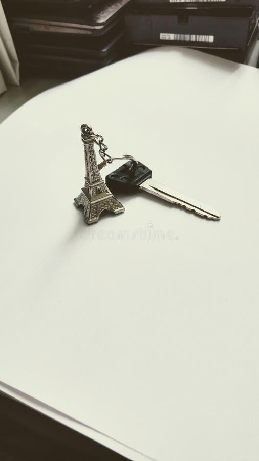 Ключевой Eiffel стоковое изображение